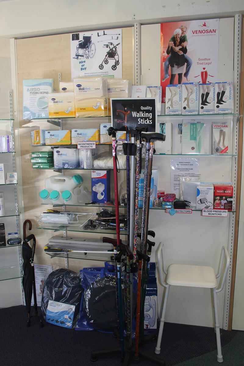 Walking Sticks And Incontinence Products At Wairau Pharmacy
